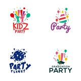 Creative Party Logo Design Vector Art Logo. Creative party Logo Design for various used and purposed just for you the great people Stock Photography