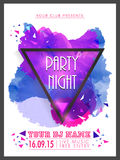 Creative Party Night flyer, template or banner. Stock Photo