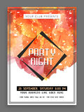 Creative Party Night flyer, template or banner. Stock Images