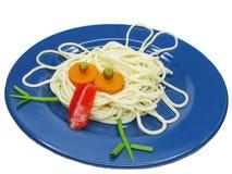Creative pasta bird shape stock images
