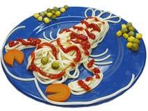 Creative pasta food crab shape stock photography