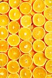 Creative pattern. Fresh sliced orange fruit texture. Macro, top view with copy space. Food frame. Juicy oranges. Background. banner royalty free stock photography
