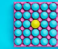 Creative pattern of pastel eggs,be yourself visual art.  stock images