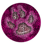 Creative Paw Print Circle 1 Royalty Free Stock Photo