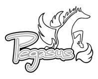 Creative pegasus art symbol Royalty Free Stock Photos