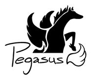 Creative pegasus sign Stock Photos