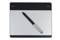 Creative pen tablet Royalty Free Stock Image