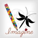 Creative pencil stock illustration