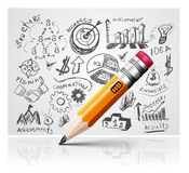 Creative pencil idea Royalty Free Stock Photos