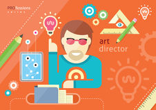 Creative people design occupations art direction royalty free illustration