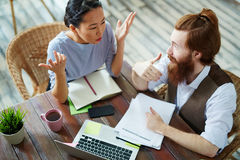 Creative People Discussing Work in Modern Office Stock Photos