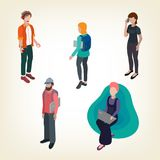 Creative people freelancers Royalty Free Illustration