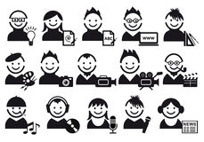 Creative people icons Stock Photos