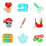 Creative people icons set, cartoon style. Creative people icons set. Cartoon set of 9 creative people vector icons for web isolated on white background vector illustration