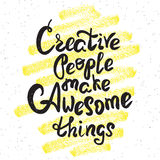Creative people make awesome things Royalty Free Stock Photos