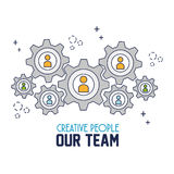 Creative people our team Stock Image