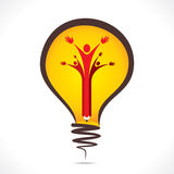 Creative people support symbol design with pencil in bulb Stock Photography