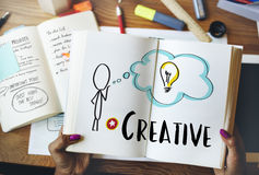 Creative Person Light Bulb Graphic Concept Royalty Free Stock Image