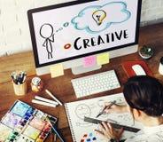 Creative Person Light Bulb Graphic Concept Stock Photo