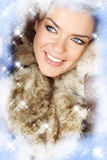 Creative photo of winter woman Stock Image