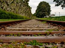 Creative photography of an old train route stock image