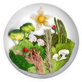 Creative picture of food, landscape food Royalty Free Stock Image