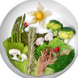 Creative picture of food, landscape food Royalty Free Stock Photos