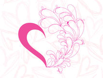 Creative pink heart background Royalty Free Stock Photo