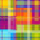 Creative plaid seamless pattern. Checkered cotton fabric. Stock Photos