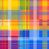 Creative plaid seamless pattern. Checkered cotton fabric. Stock Images