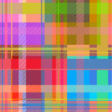 Creative plaid seamless pattern. Checkered cotton fabric. Stock Image