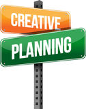 Creative planning sign Stock Photography