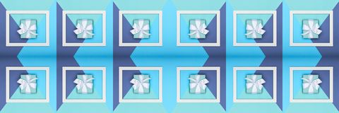 Creative pop art Father`s Day web banner. Happy Father`s day or Birthday Turquoise and Blue Background. Minimalism greeting card. Creative pop art Father`s Day Stock Photos