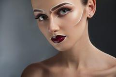Creative pop art makeup stock images