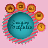 Creative portfolio Royalty Free Stock Photos