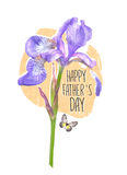 Creative postcard for Happy Father`s Day. Can use as a greeting card, poster, flyer Royalty Free Stock Photos