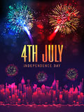 Creative poster or banner for American Independence Day. Royalty Free Stock Images