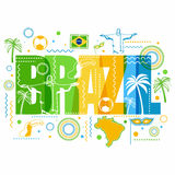 Creative Poster, Banner, Flyer of Brazil. Stock Photos