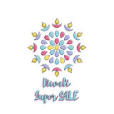 Creative poster Sale Happy Diwali. Creative poster, banner or flyer design of Diwali Sale for Indian Festival of Lights, Happy Diwali Royalty Free Stock Images