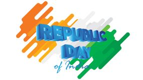 Creative Poster, Banner or Flyer for Republic Day of India 26 January celebration with modern design. Stylized royalty free illustration