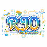 Creative Poster, Banner, Flyer of Rio de Janeiro. Stylish Text Rio de Janeiro with hand drawn line art illustration of Brazilian native and cultural symbols Royalty Free Stock Image