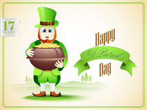 Creative poster or banner for Happy St. Patricks Day. Stock Image