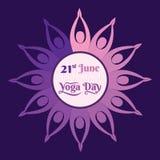 International yoga day poster design. Creative poster design of International yoga day Stock Images