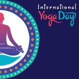 International yoga day poster design. Creative poster design of International yoga day Stock Photography