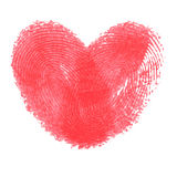Creative poster with double fingerprint heart Stock Photography