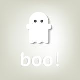 Creative poster for Halloween. little ghost. Poster for Halloween. little ghost Royalty Free Stock Images