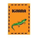 Creative poster. iguana Royalty Free Stock Photo