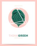 Creative poster for 'think green' Royalty Free Stock Photos