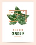 Creative poster for 'think green' Stock Images