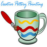 Creative Pottery Painting Stock Photos